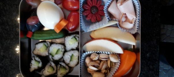 bentobox glutenvrije lunch voor op school of werk