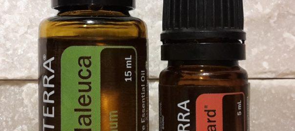 keelpijn oplossing met essentiële olie